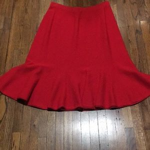 Vintage 50's The Bahama shop red knit flair skirtM